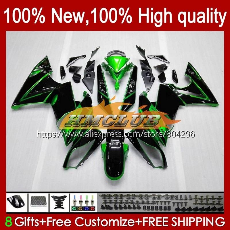 مصنع الأخضر الجسم عدة لكاواساكي 650R إيه 6 F ER6 F 2009 2010 2011 114No.1 إيه 6F 09-11 650-R ER-6F 650 R ER6F 09 10 11 هدية