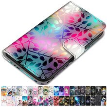For Case ZTE Blade A510 A530 A610 A6 V9 PU Leather Phone Cover Animal Floral Tower Lovely Girls Boys
