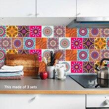 Funlife-autocollants en carreaux du mexique   Stickers adhésifs imperméables, pour décoration murale, salle de bain, cuisine, autocollants de meubles, bricolage