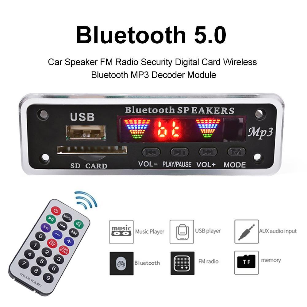 Pantalla Bluetooth inalámbrico MP3 WMA descodificador WAV de 5V 12V 12V módulo...