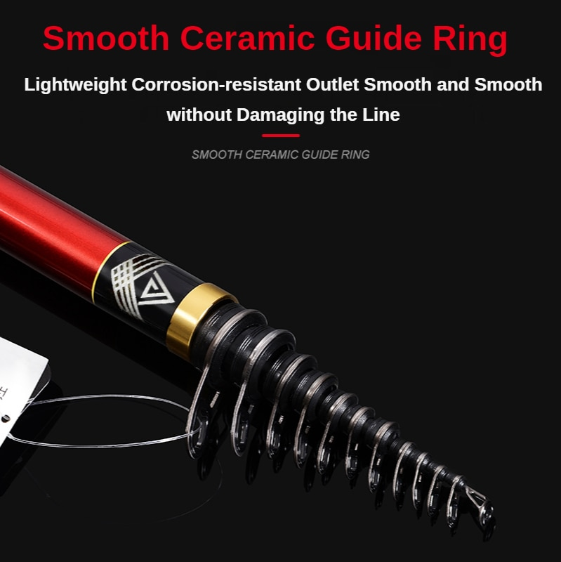 PURELURE Rocky pole long-throwing and drifting special pole carbon super-hard and ultra-light dual-use large guide ring enlarge
