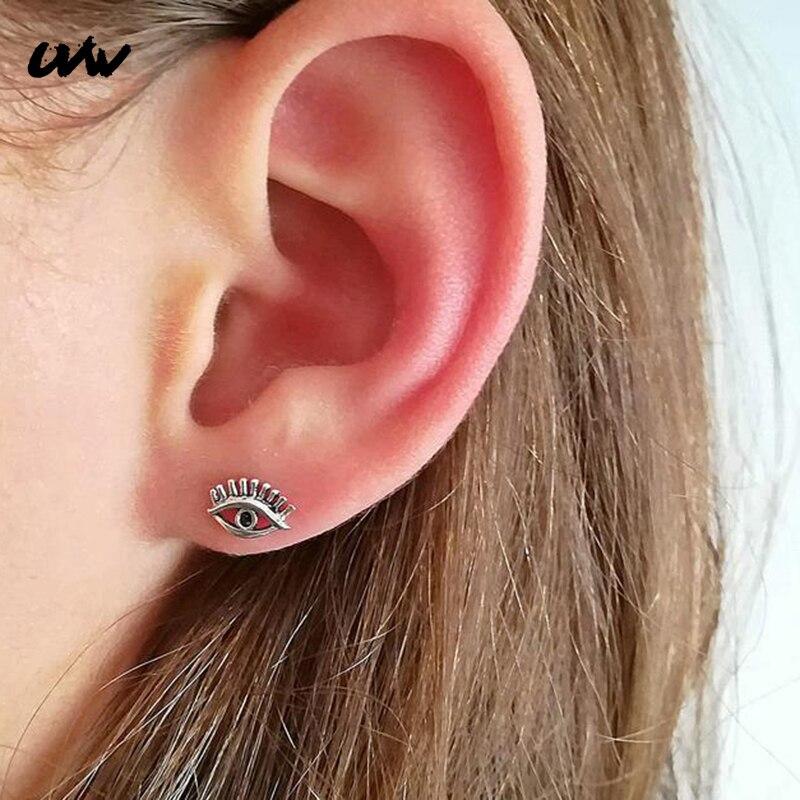 2pc Tiny 316L Stahl Auge Stud Ohrringe Tragus Helix Piercing Jewelrys für Frauen Silber Farbe Knorpel Ohrringe Studs Kühlen UVW276