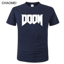 2020 Summer Fashion Doom T-shirt Game Printed T Shirt Men 100% Cotton Short Sleeve Casual Streetwear Homme Tops Tees C154