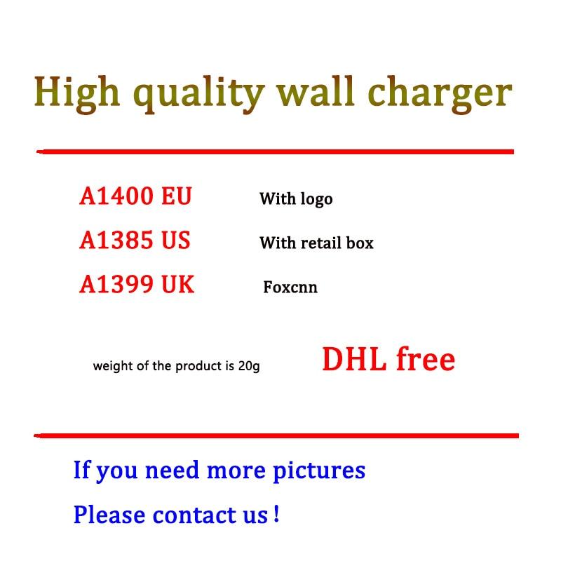 100 قطعة/الوحدة 5V 1A 5W الاتحاد الأوروبي الولايات المتحدة المملكة المتحدة التوصيل USB الجدار شاحن AC محول الطاقة ل XS ماكس XR 8 7 6s زائد 5s A1400 A1385 A1399 AAAA ا...
