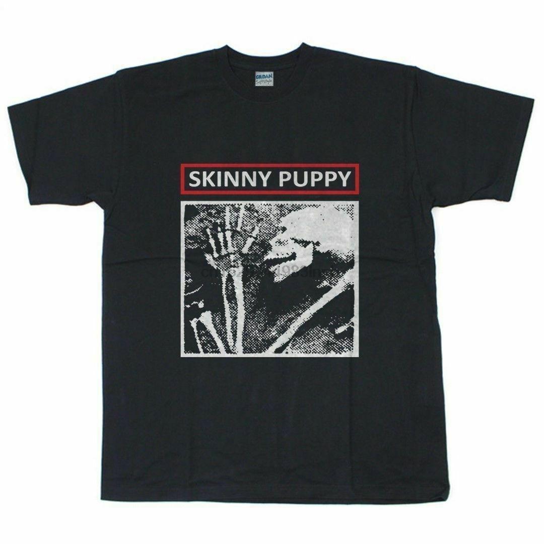 New Vintage Skinny Puppy Ministry Harajuku Streetwear Shirt Men 4Ad Goth Mens T Shirt Size S 2Xl