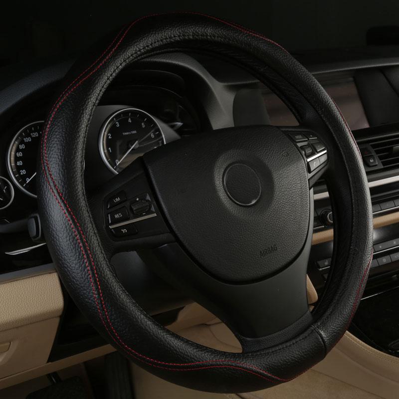 Accesorios de cuero auténtico para cubierta de volante de coche para Isuzu Amigo Ascender Axiom Hombre I camión