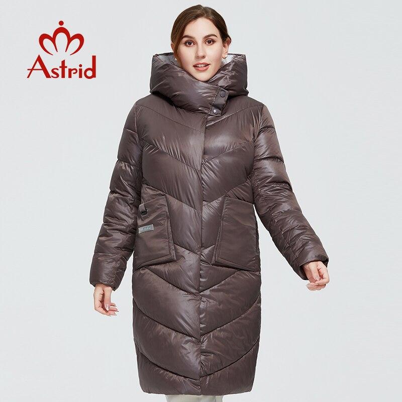 Astrid 2020 nuevo abrigo de invierno para mujer modelo Largo parka caliente chaqueta de moda con capucha bio-down tallas grandes ropa femenina 9556