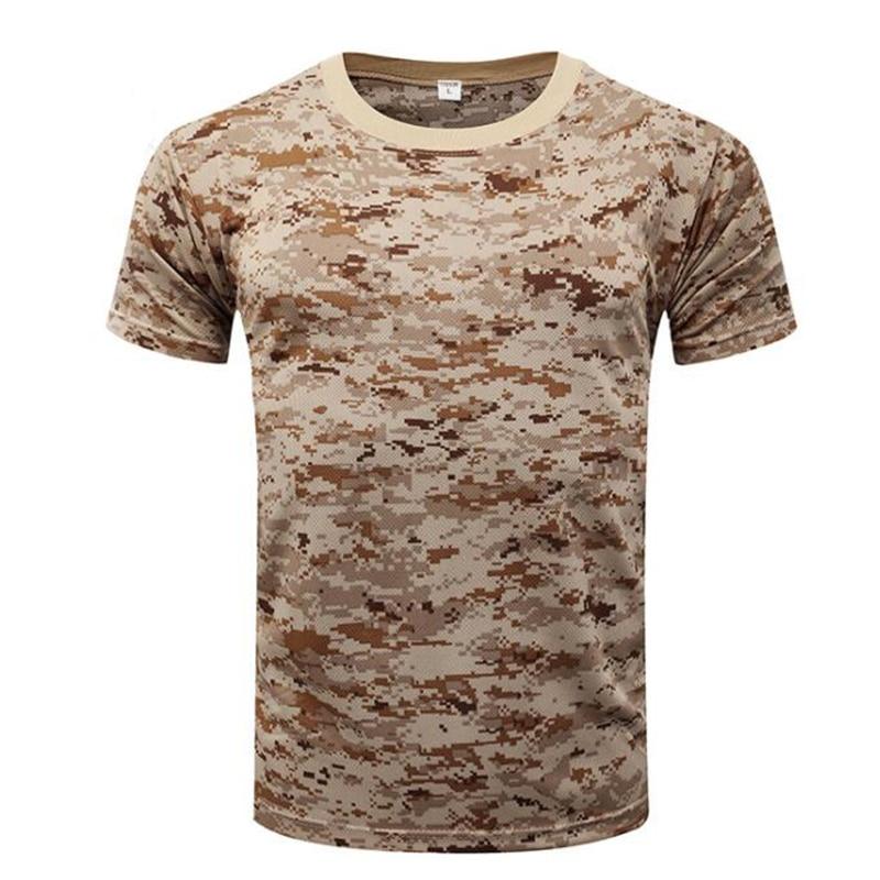 Camouflage T Shirt Summer Men's T-shirt Short Sleeve Tee Tops Outdoor Military Tactical Combat Fitness Hiking movement T-Shirt