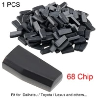 1 piece blank id68 light carbon chip not code car key transponder chip replacement fit for daihatsu toyota and lexus