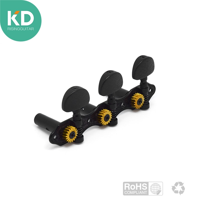 2 PC per set High end Classical Guitar Tuning Pegs Machine Heads Black color Vintage style with black button guitar parts enlarge