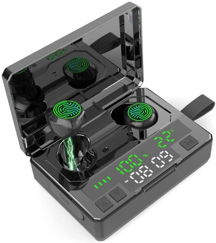Bluetooth sem Fio Fone de Ouvido à Prova Fone de Ouvido Redução de Ruído Digital para Esportes Dtwágua Estéreo In-ear Inteligente Led Display Tws