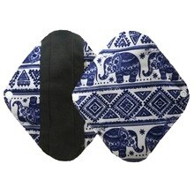 1PC Reusable Sanitary Pad Charcoal Bamboo Cloth Menstrual Pad Sanitary Towel Washable Panty Period Menstrual Pad