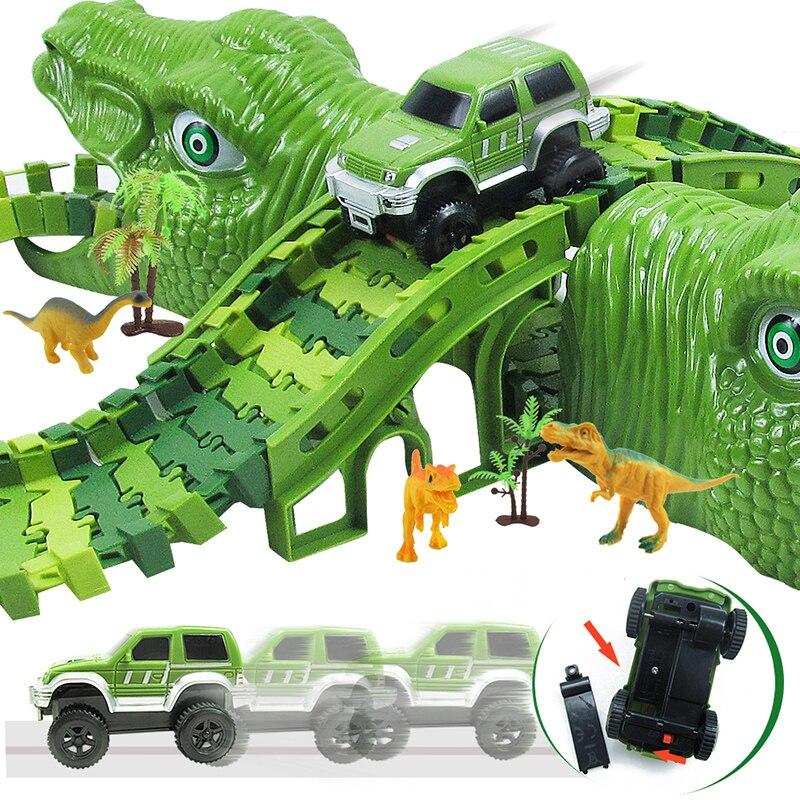 Детские игрушки, динозавр, железная дорога, игрушки, автомобиль, трек, гоночный трек, набор игрушек, развивающий гибкий гоночный трек «сдела...