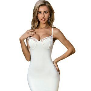 Elegant Bandage Strap Bodycon Dress Women Summer Sexy Sleeveless Party Dress Casual Slim Knit Beach Dress Vestidos Femme