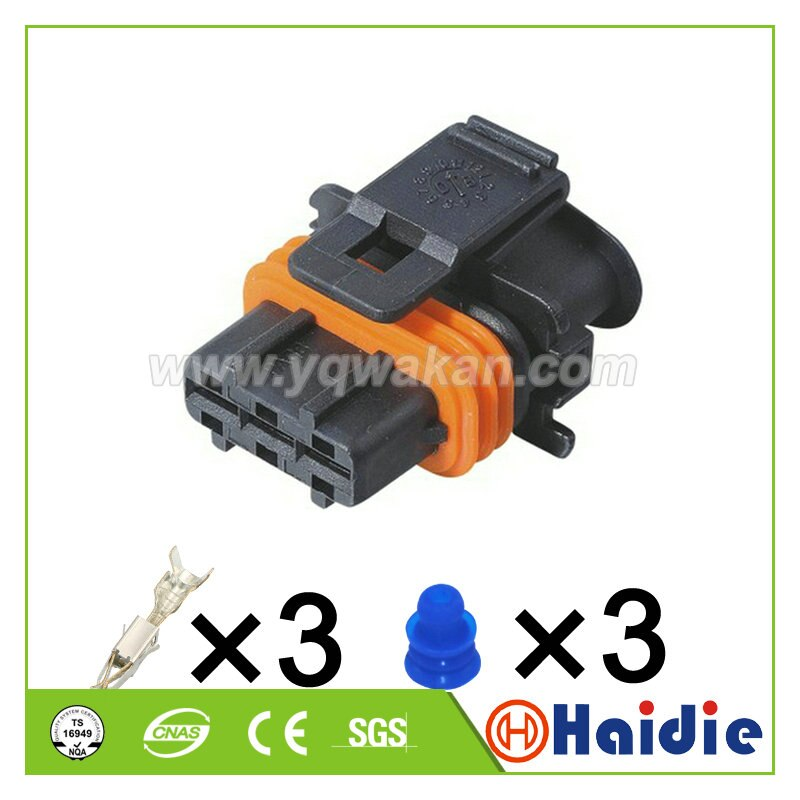Envío Gratis 5 Juegos 3pin serie 3,5 eléctrico carcasa impermeable conector de...