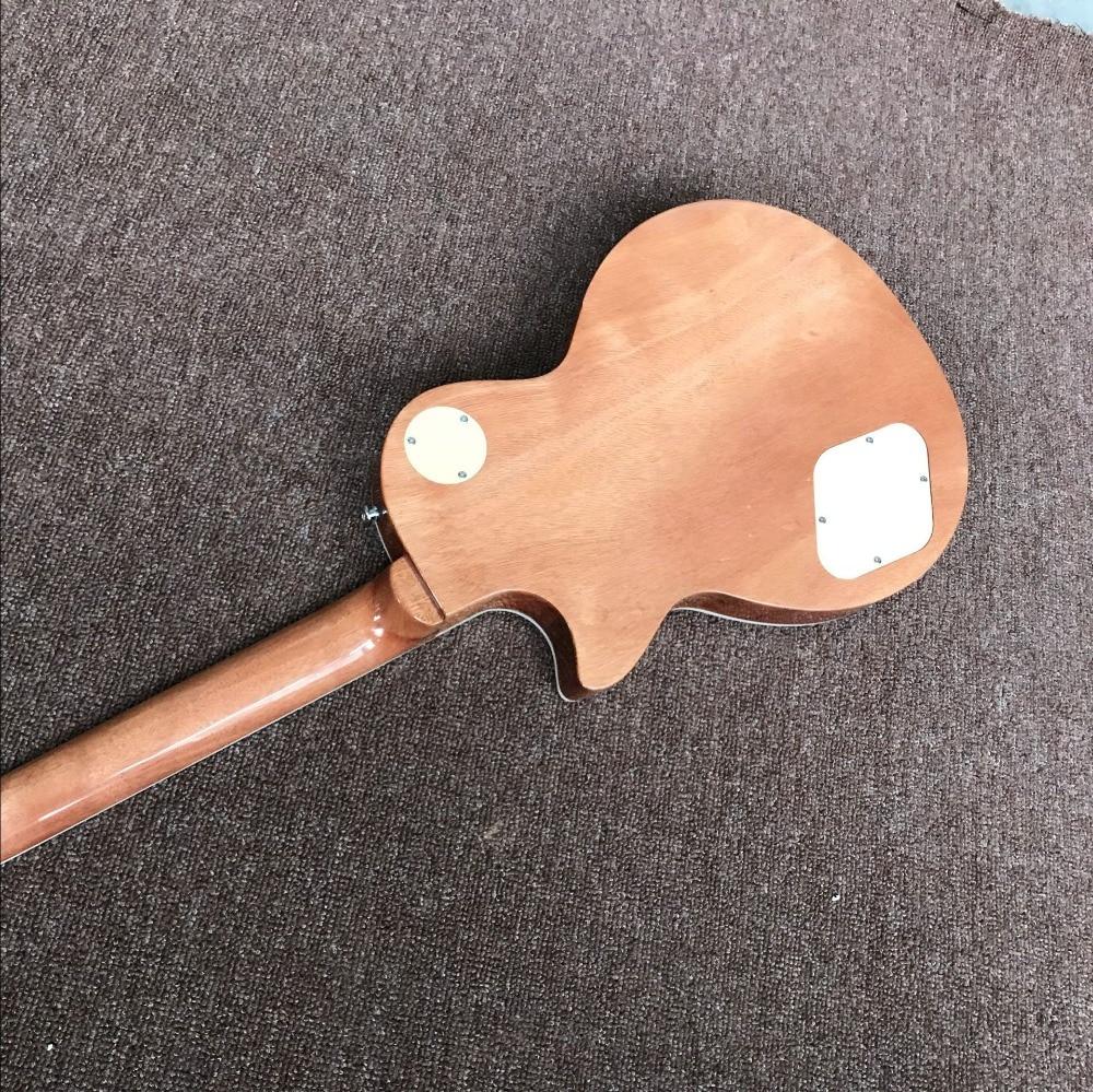 New standard custom.blue color Tiger Flame electric guitar.mahogany body gitaar.Rosewood fingerboar guitarra.musical instruments enlarge