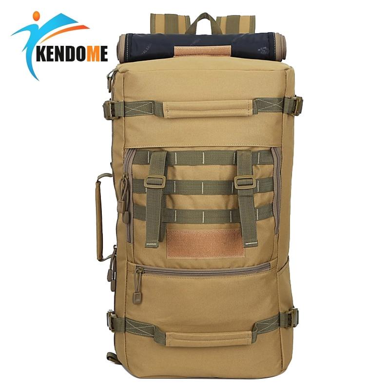 حار A ++ 50L العسكرية التكتيكية على ظهره المشي لمسافات طويلة التخييم Daypack حقيبة كتف الرجال المشي لمسافات طويلة الظهر حزمة mochila الأنثوية
