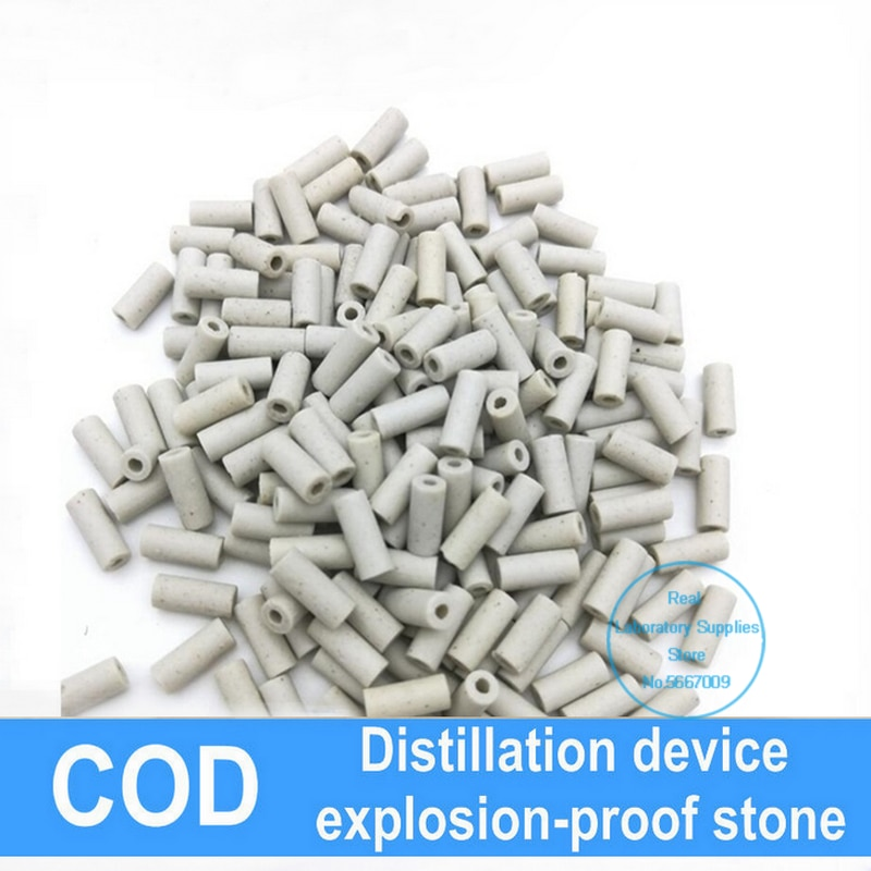 Lab Explosion-proof Stone Zeolite for Laboratory COD Distillation Unit, Splash Proof Small Porcelain Particles 250ml 24 40 soxhlet extractor used for distillation unit oil water receiver separator essential oil distillation kit part