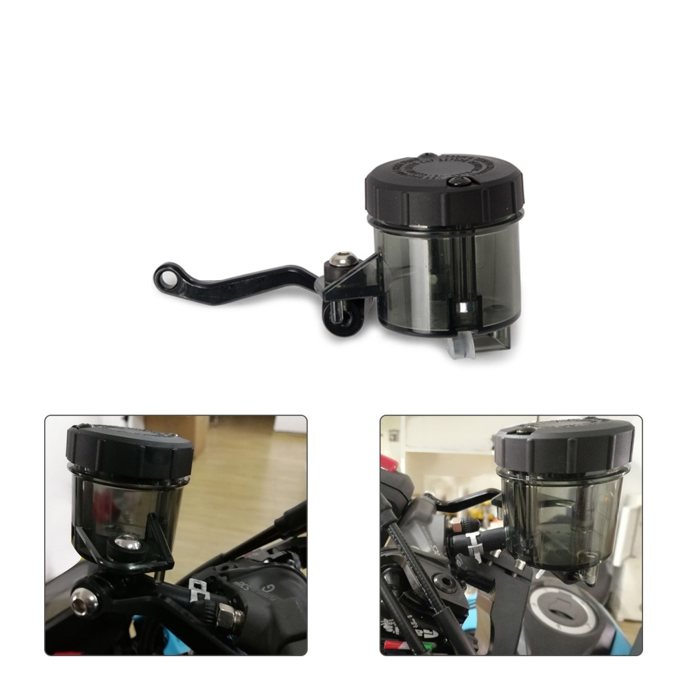 universal car oil catch can tank with breather compact dual cylinder polish baffled engine air oil separator tank reservoir kit Universal Motorcycle Front Brake Clutch Fluid Bottle Master Cylinder Oil Reservoir Tank Cup For Honda for Kawasaki for YAMAHA