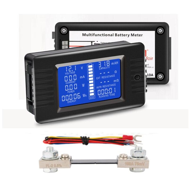 PZEM015 DC 200V 100A voltímetro amperímetro probador de batería de coche capacidad resistencia electricidad voltaje medidor monitor 12v 24v 48v 96v
