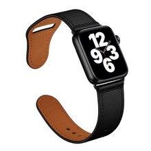 Cinturino cinturino cinturino in vera pelle di mucca per Apple Watch 6 SE 5 4 3 42MM 38MM 44MM 40MM cinturino per iWatch 6 SE 5 4 cinturino