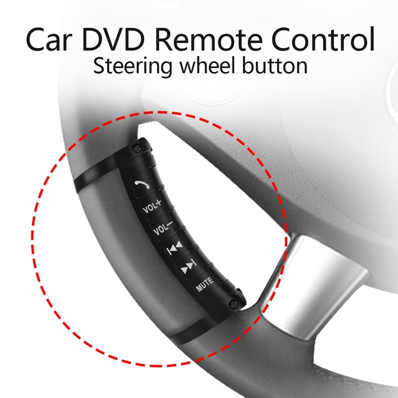for volkswagen vw new polo new jetta 2016 multi function steering wheel audio control buttons Universal Car Steering Wheel Remote Control Button Multi-Function Wireless Bluetooth Control for 2DIN DVD Player