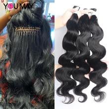 I Tip Hair Extensions Microlinks For Black Women Body Wave Peruvian Virgin Hair 100% Human Hair Bulk