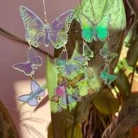 rainbow butterfly acrylic earrings laser cut acrylic earringsstatement earrings chic boho earrings