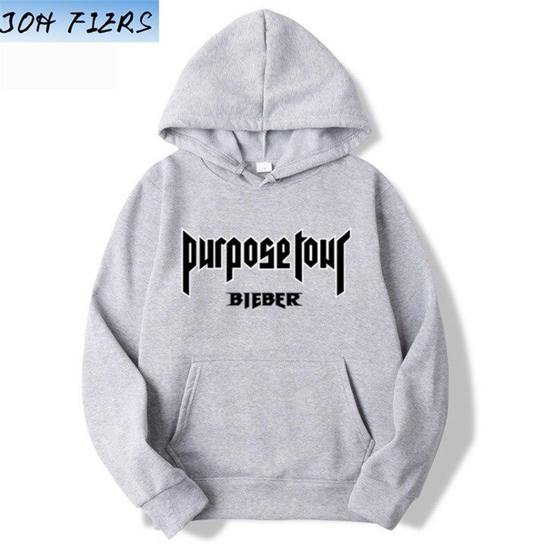 Marca de moda diseño de Justin Bieber propósito Tour sudaderas con capucha Jersey impreso hombres mujeres deporte Hip Hop estilo sudaderas con capucha Tops