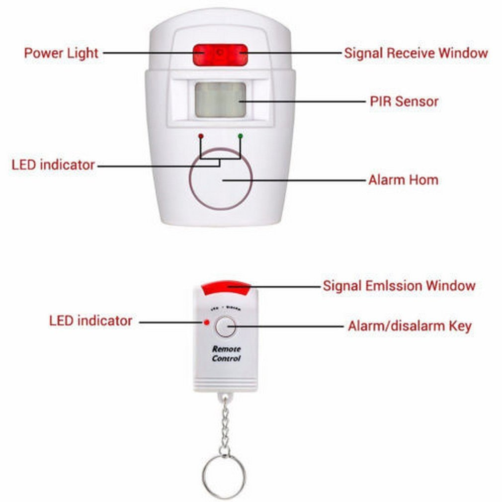 Home Security  Alert Infrared Sensor Anti-theft Motion Detector Alarm Monitor Wireless 105dB Alarm system+2 remote control enlarge
