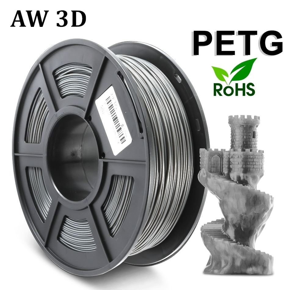 PETG Translucence Filament For 3D Printer 1.75MM Good Toughness PETG Filament 1KG With Spool Lampshade Consumable Material