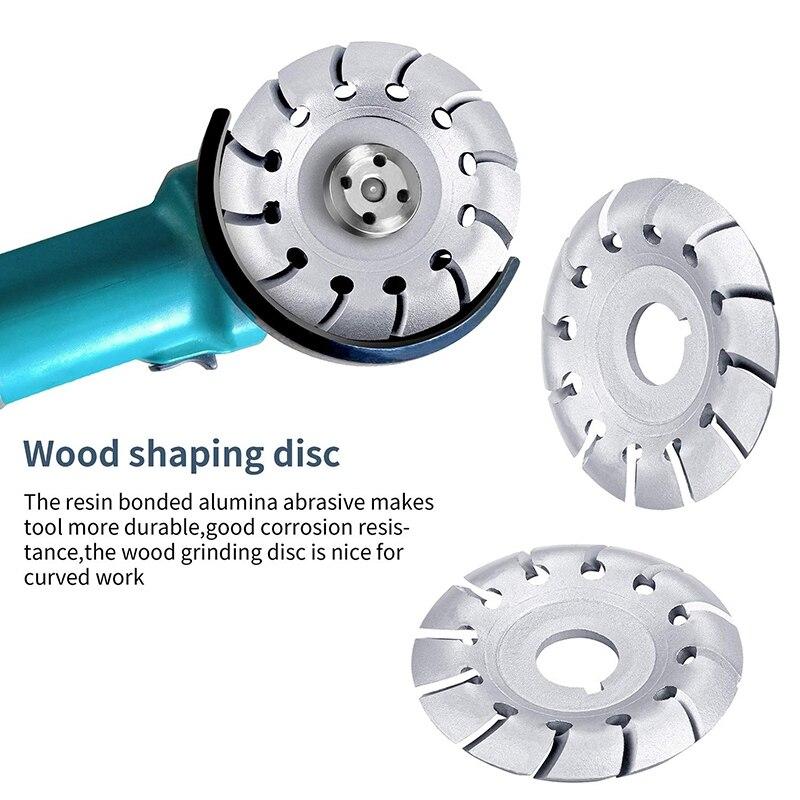 4 pezzi smerigliatrice angolare mola per legno 12 denti lucidatura - Utensili abrasivi - Fotografia 3