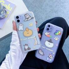 귀여운 고양이 지우기 전화 케이스 Xiaomi 9 9se 10lite CC9 CC9E Redmi Note7 Note8 Pro Note9Pro K20 K30 Pro 백 케이스