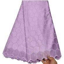5 Yards suisse Voile dentelle en suisse haute qualité broderie suisse dentelle tissu africain 100% coton tissu pour robe B201
