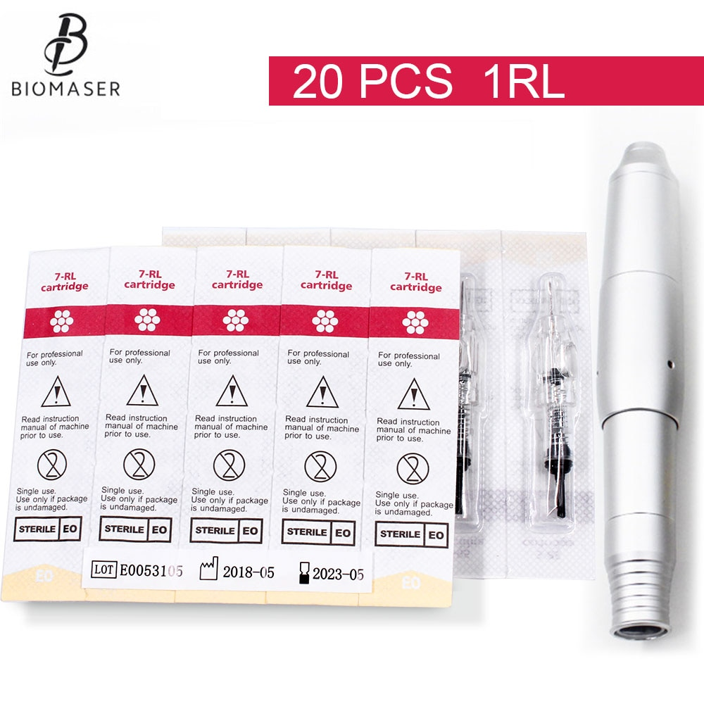 Tattoo Cartridge Needles 20pcs 1RL Tattoo Needle Machine Disposable Sterilized Eyebrow lip permanent