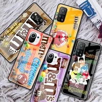 mms chocolate glass phone case for xiaomi redmi note 9s 8 9 8t 7 9c capa for mi 10t pro 9t 10 lite tempered cover