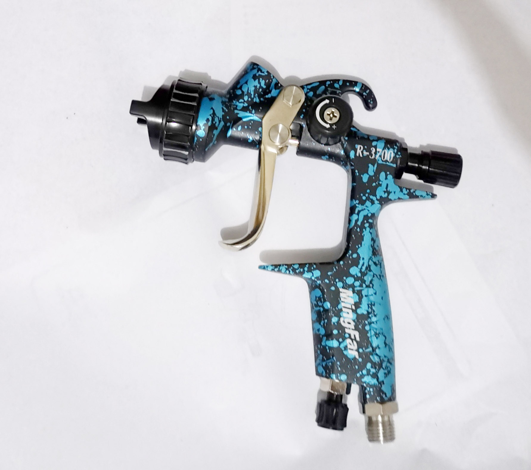 Profissional pistola de pintura a ar pulverizador hvlp dicas alimentação por gravidade 1.3/1.4 bico w/t 600 tanque ferramenta pintura do corpo carro pistola pistola