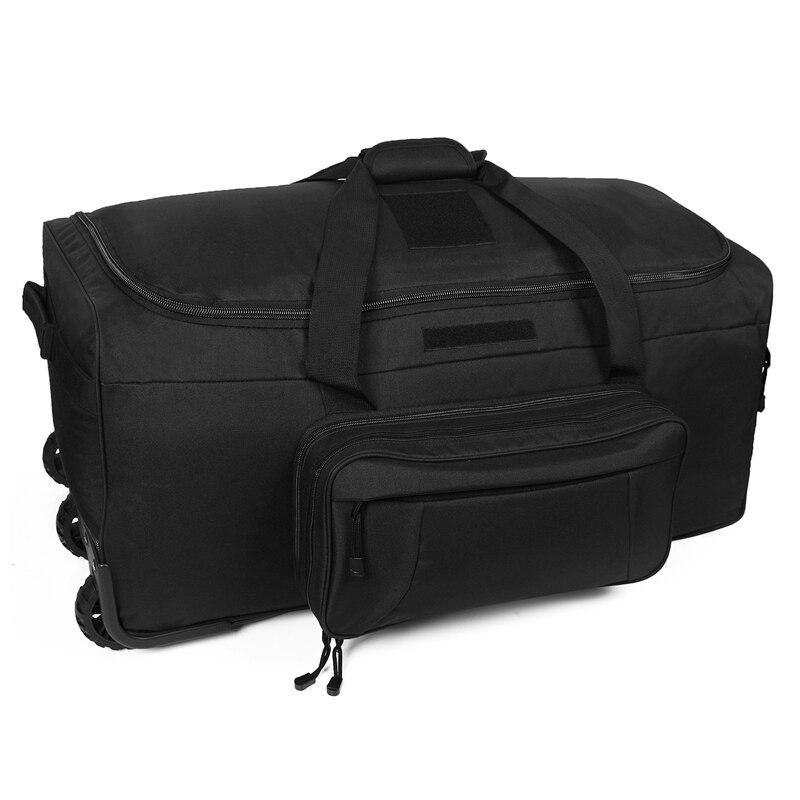 124L Large Capacity Outdoor Camping Travel Bag Large Trolley Case Waterproof Nylon Practical Travel Handbag Storage Military Bag