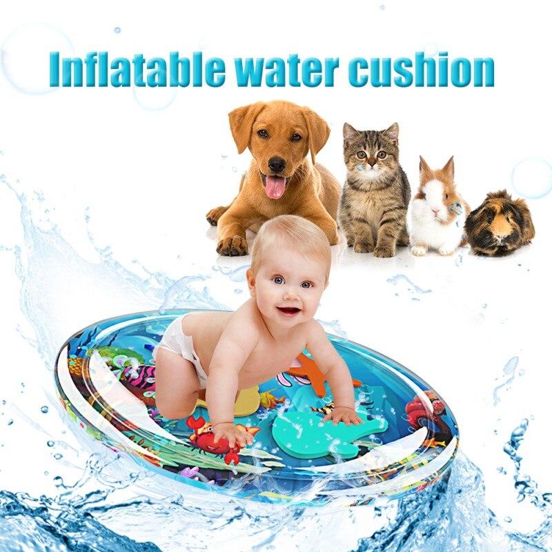 Tapete inflable para jugar al agua con diseño de dibujos animados para bebé, Centro de Actividades divertido para niños, tapete de Lleno de agua de PVC