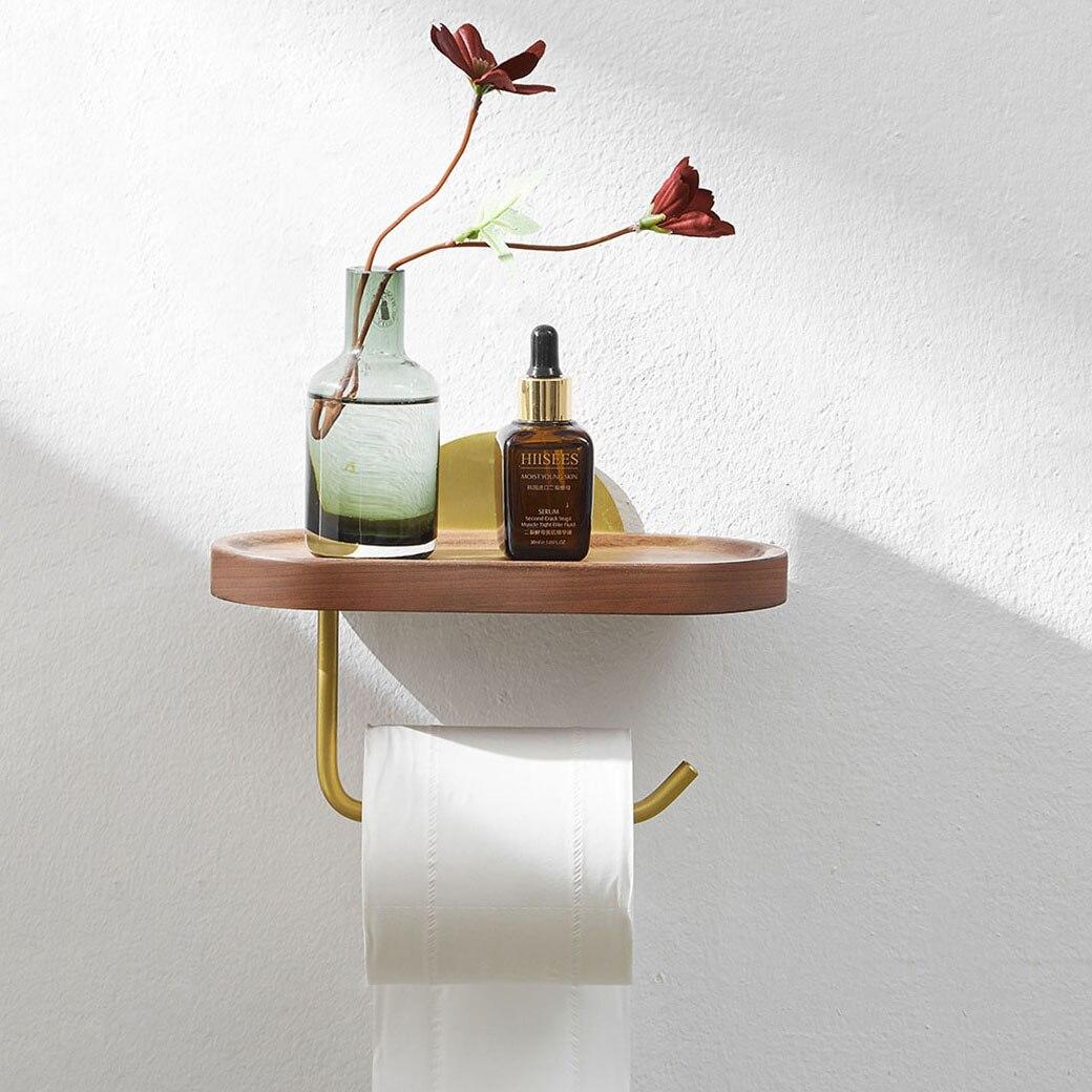 الحمام المرحاض منشفة ورقية رف الجوز مناديل حمام حامل الإبداعية الحرة مسمار الحمام حامل هاتف المحمول الرف