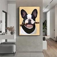 Affiches et imprimes danimaux de bouledogue francais  decoration de maison  Art deco  qualite HD  affiche de chambre denfants  peinture sur toile