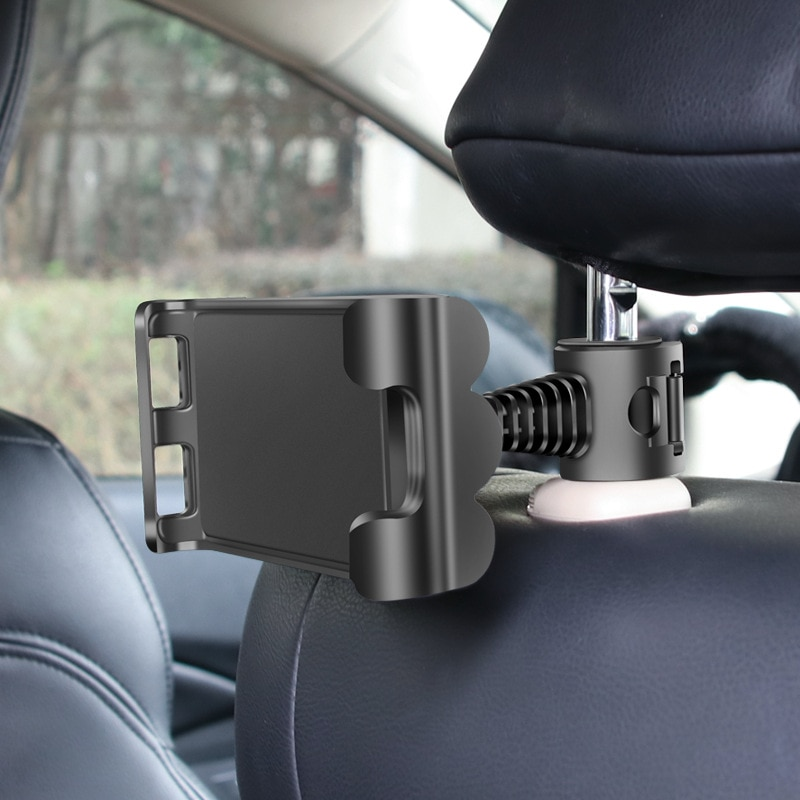 Car Tablet Phone Holder Back Seat Ajustable iPad Stand Car Phone Holder For Headrest 360 Rotation Mobile Phone Mount