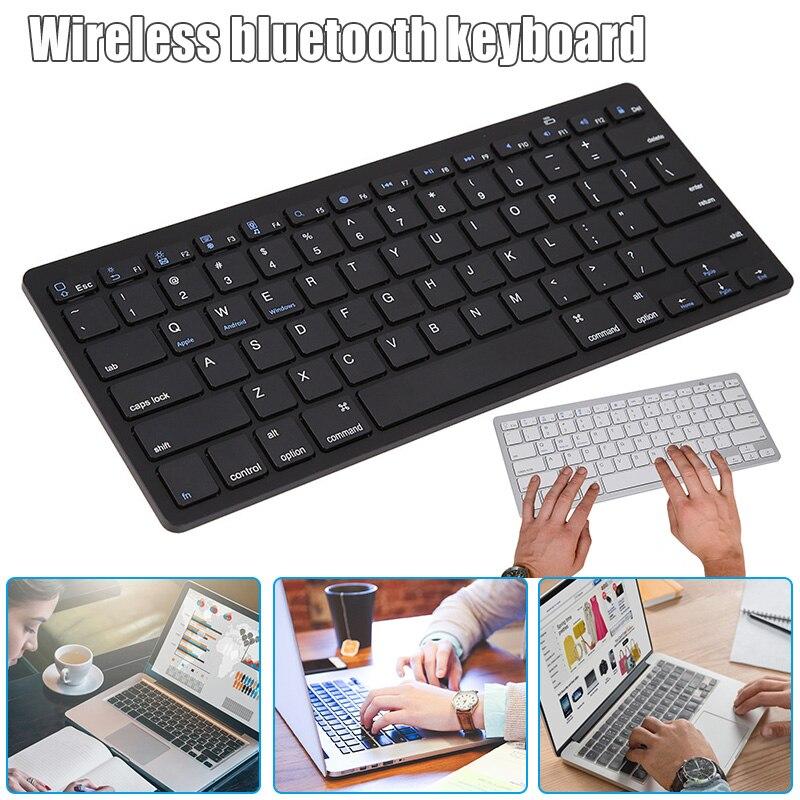 Teclado inalámbrico Bluetooth 3,0 para tableta, portátil, compatible con iOS, Windows, sistema Android, JHP, el mejor