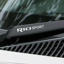 기아 리오 3 4 K2 K3 X-라인 자동차 그래픽 비닐 PVC 방수 창 와이퍼 트림 데칼에 대 한 4PCS 스포츠 자동차 스티커 자동차 액세서리