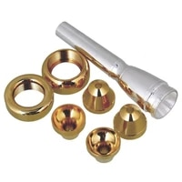 448d 7pcsset brass professional trumpet mouth 3c 5c 7c 1 12c with 2 golden heads and 4 cups for trumpet