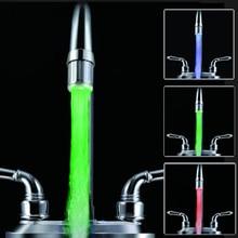7色LED蛇口ライト,バスルーム,キッチン,バスルーム用の蛇口,温度センサー