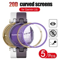 screen protector for garmin lily women%e2%80%99s fitness sport smartwatch 20d curved edge full cover soft protective film not glass