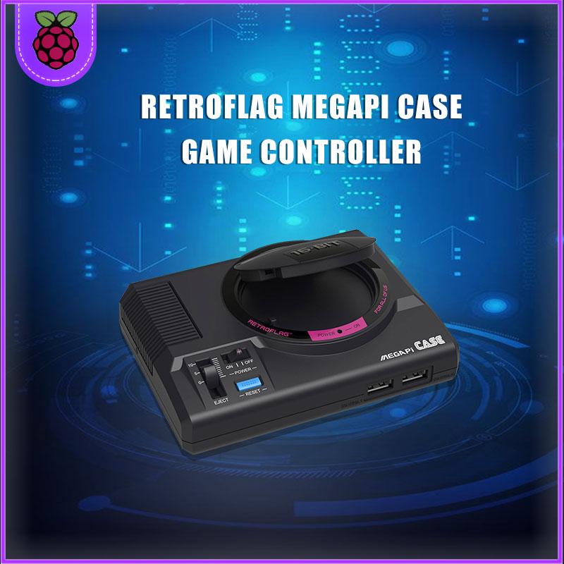 Retroflag-وحدة تحكم مشغل ألعاب تلفزيونية MEGAPi مع Raspberry Pi 3B ، أصلية ، متوافقة مع التشغيل والتوصيل