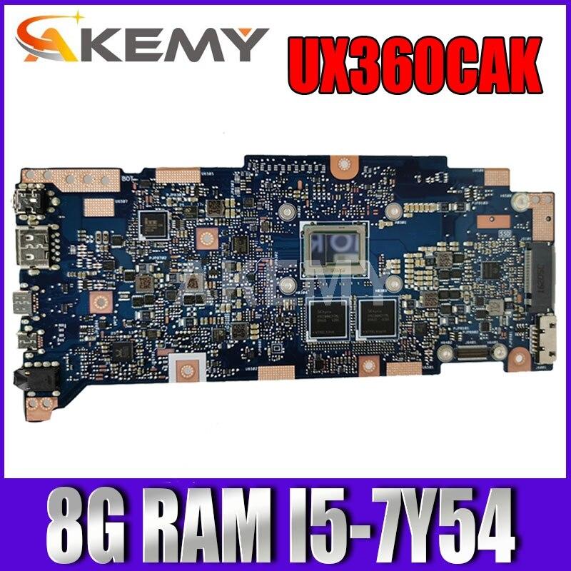 لوحة أم جديدة UX360CA 8GB RAM / i5-7Y54U CPU لـ ASUS ZenBook Flip UX360CA UX360CAK Laotop اللوحة الأم