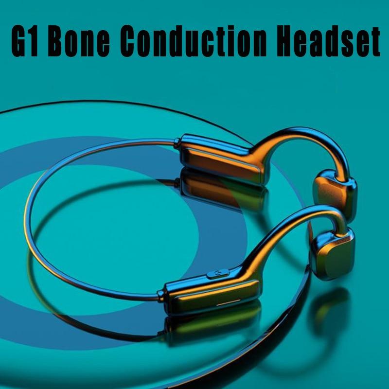 5.1 Bluetooth Earphones Sports Wireless Headset Ear-hook Air Bone Conduction Principle Stereo HIFI Headphones With Microphone